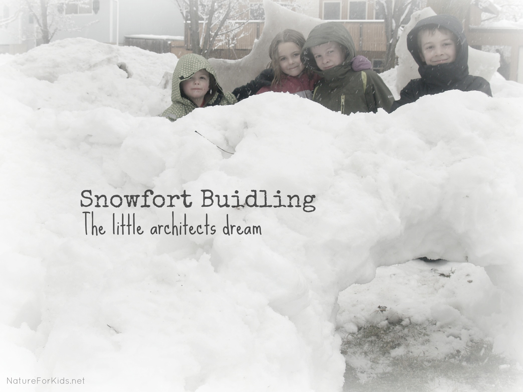 Snow Fort Construction And A New App Called Vine
