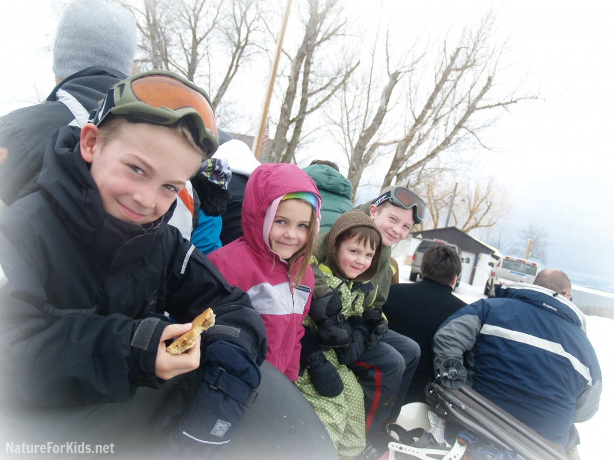 Old Fashioned Fun: Sleigh Ride, Sledding And A Campfire