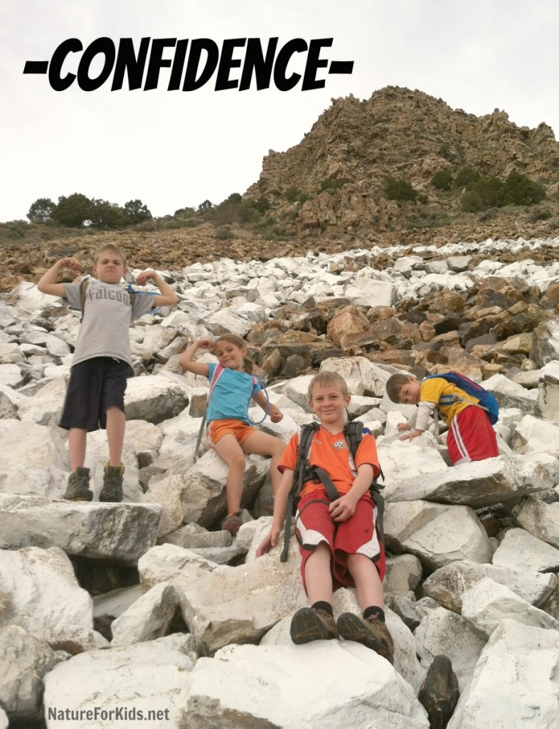 hiking with kids confidence