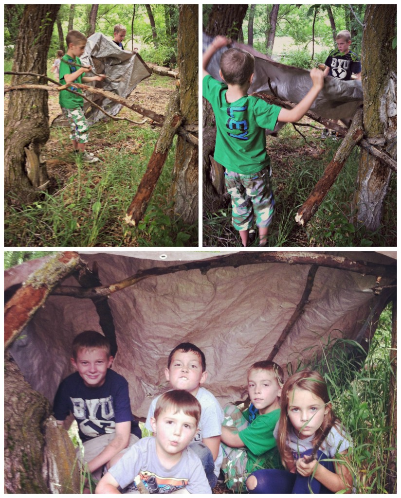 Nature For Kids Survival Shelter