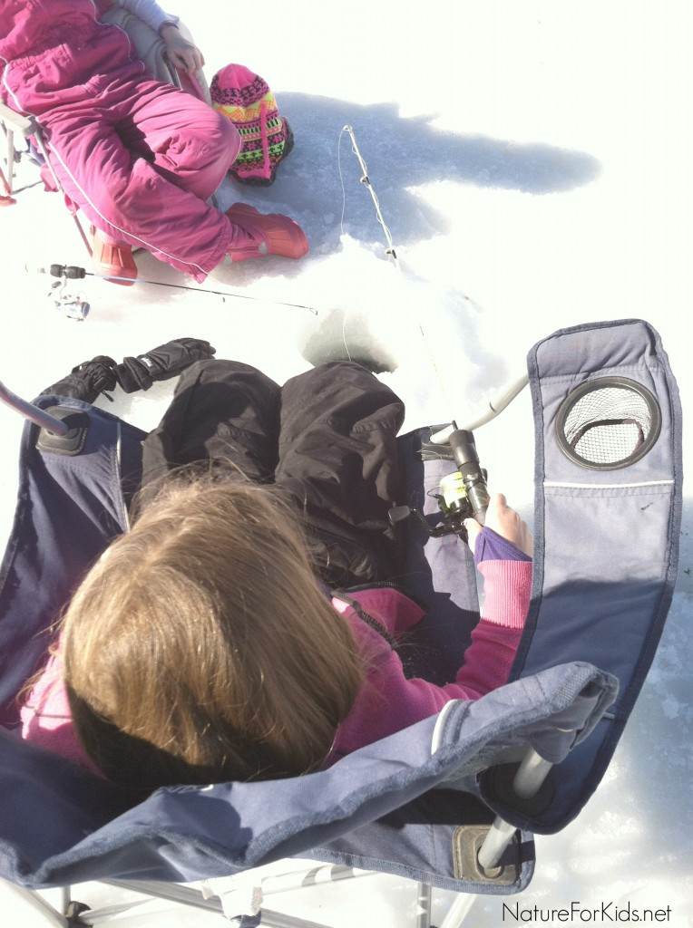 Ice Fishing With Kids in utah