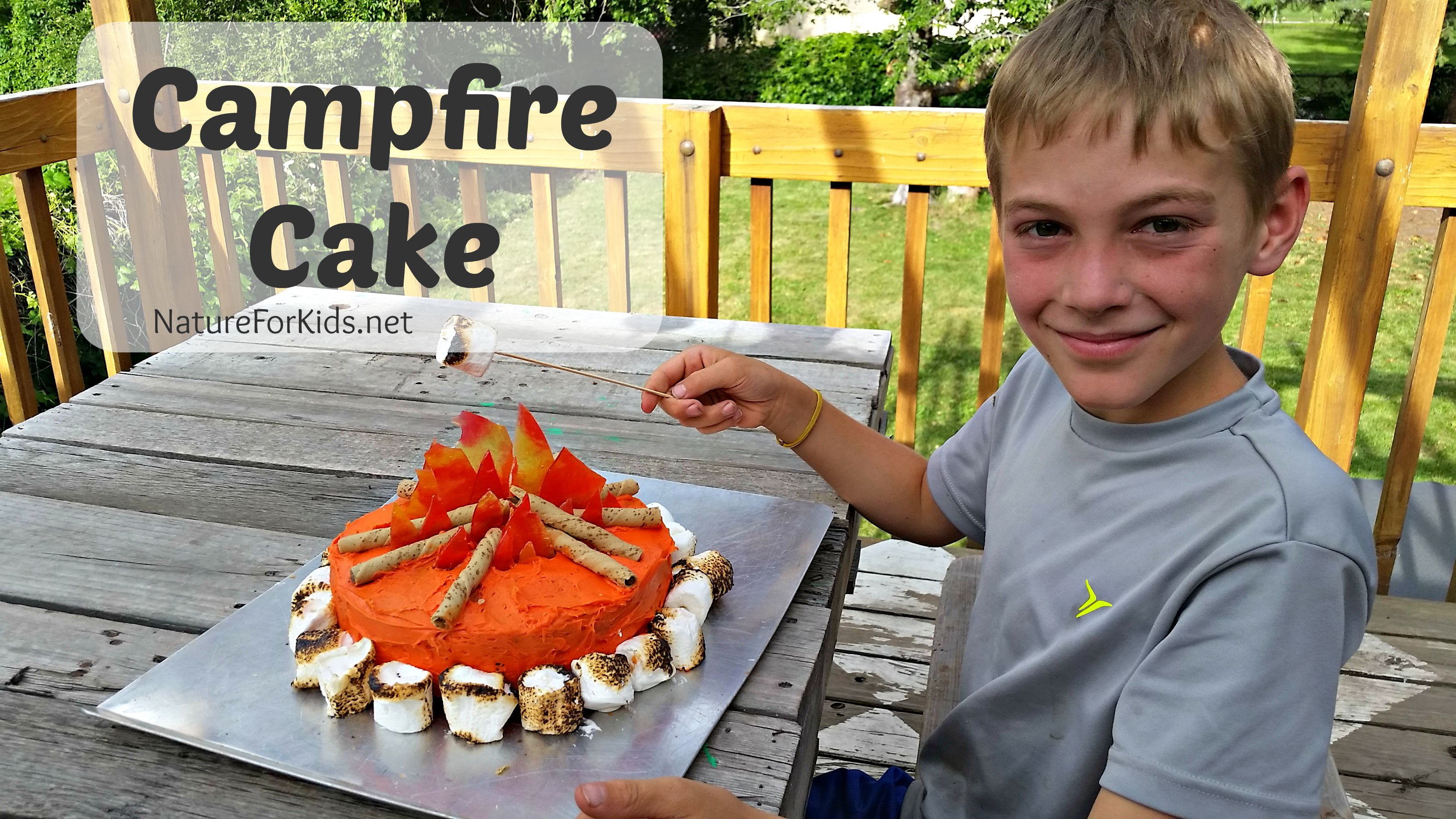 Campfire Cake With Printable Recipe Card