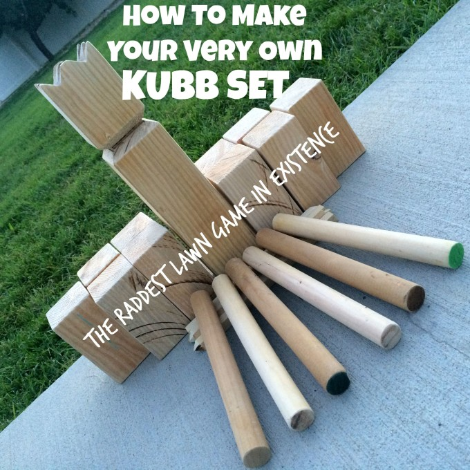 how to make kubb set game