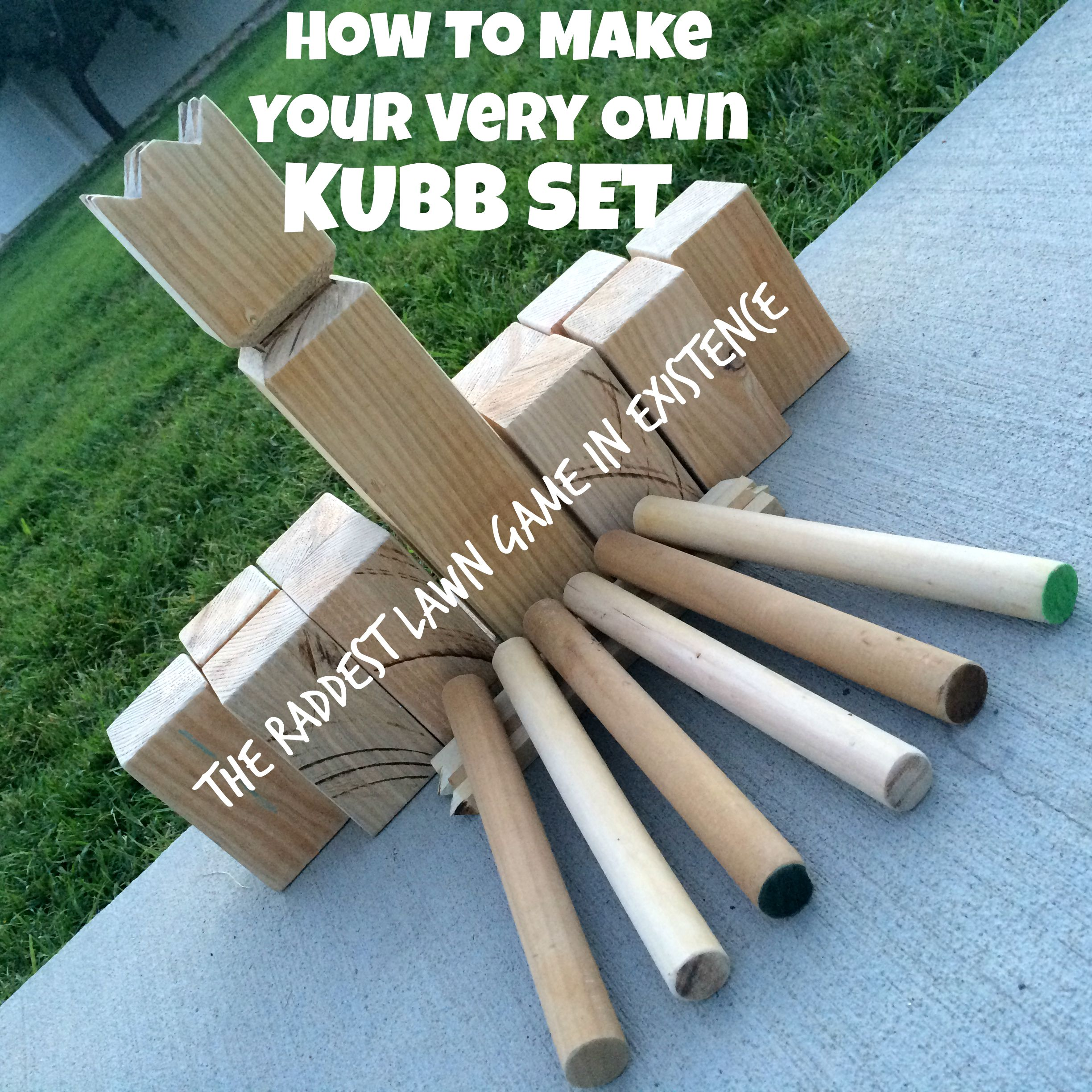 How To Make Your Very Own Kubb Set