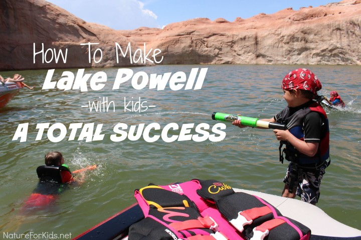 lake powell with kids