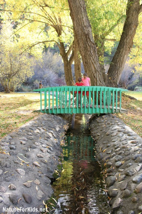 Hyrum City Park Utah stream bridge