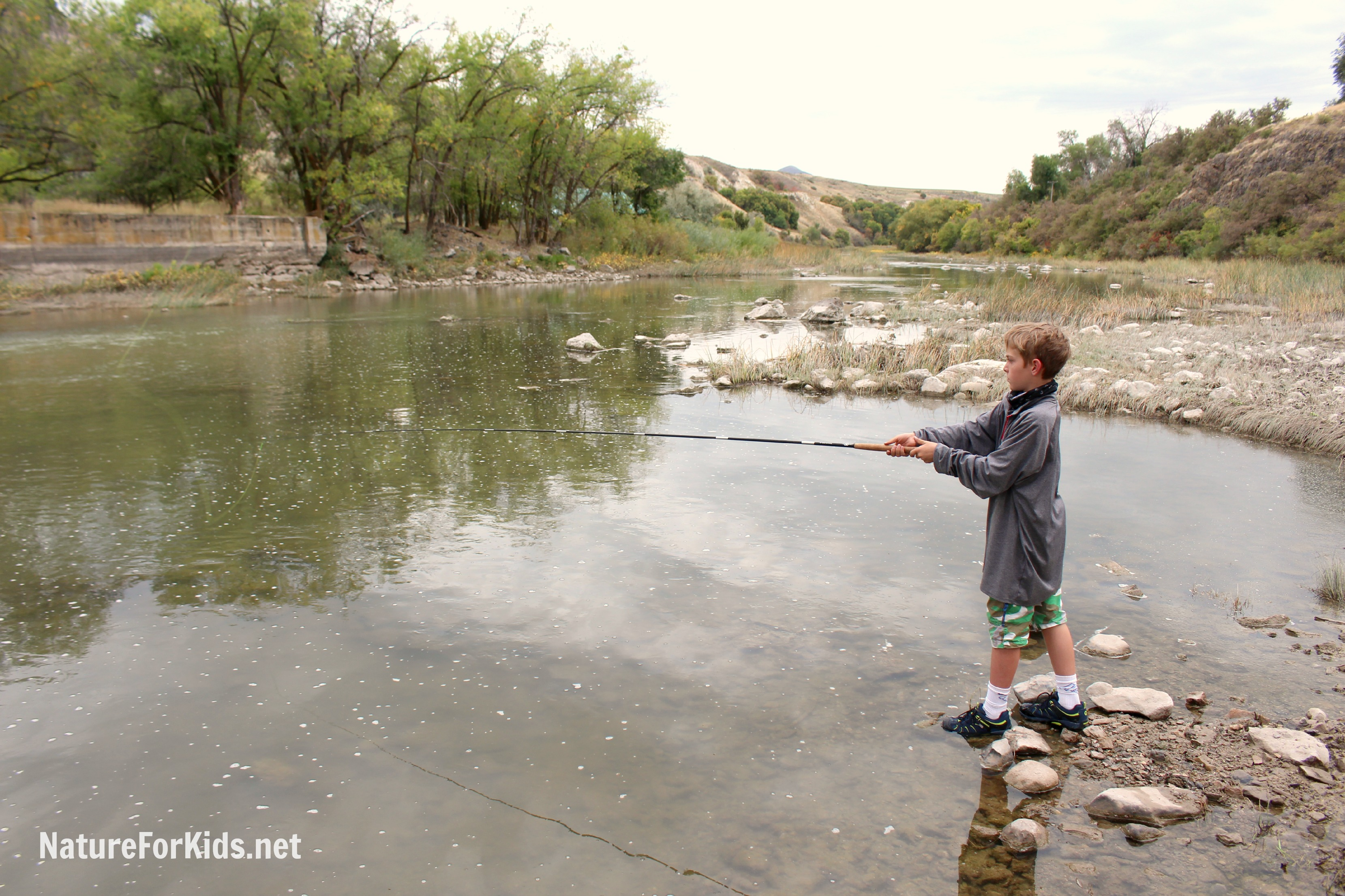 Comfort Communication And Catching Fish Nature For Kids