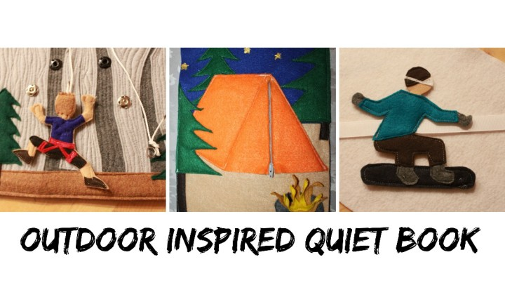 outdoor inspired quiet book for kids
