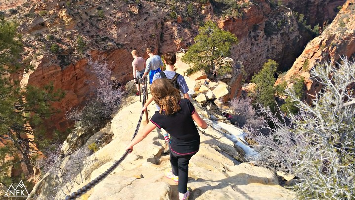 ava girl hiking angels landing