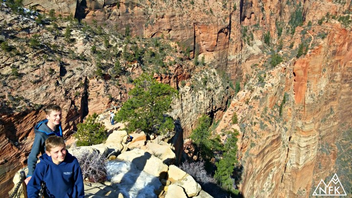 boys climb angels landing