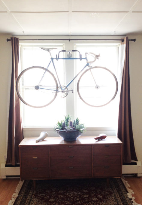 repurposed bike handles