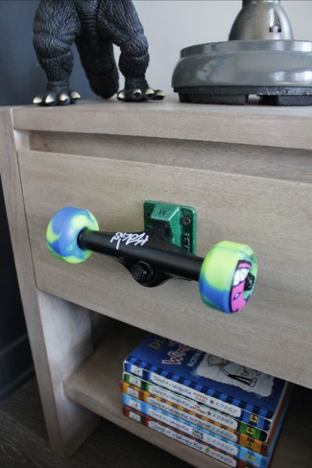 skateboard wheels drawer pull