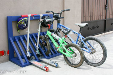 wooden diy bike rack